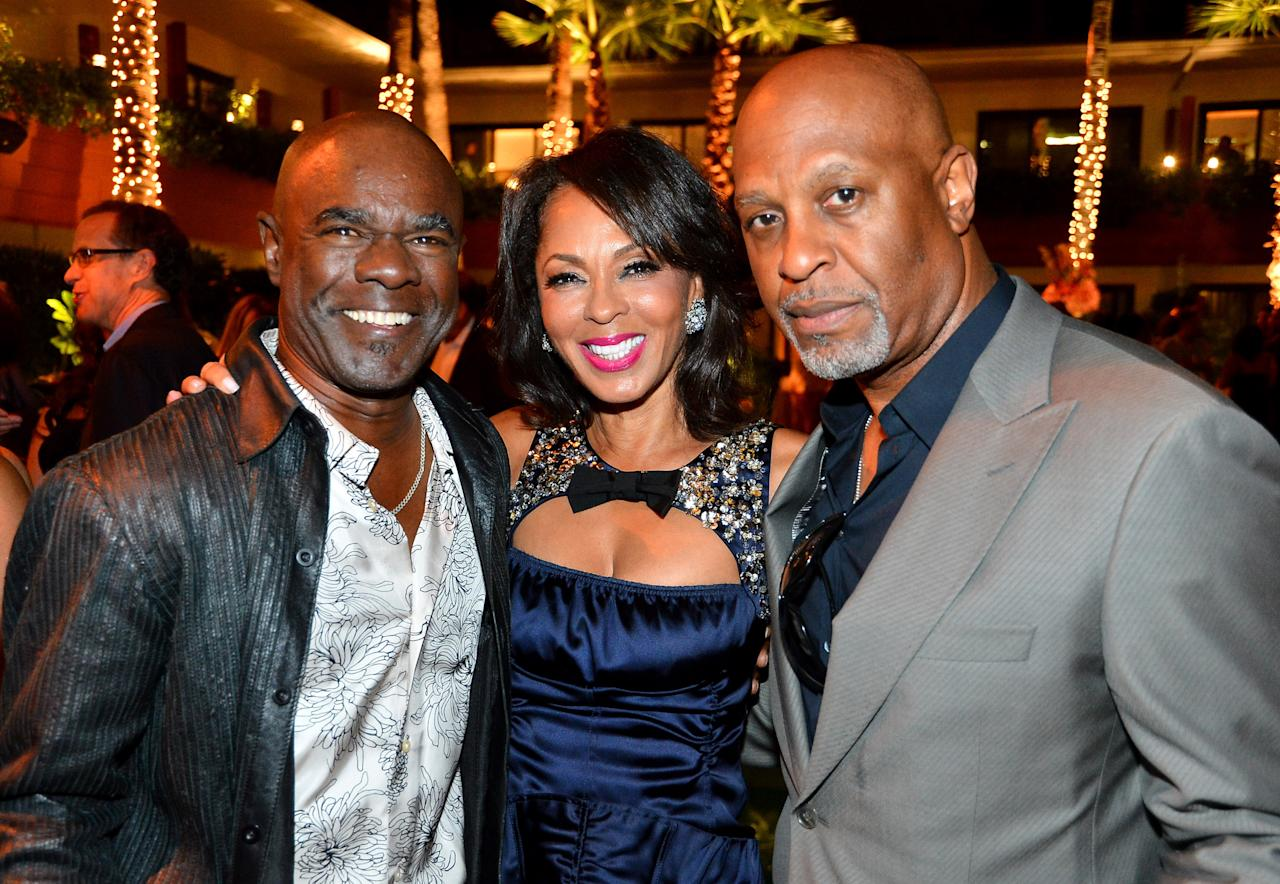"""HOLLYWOOD, CA - AUGUST 16:  Actress Debra Martin Chase (C) attends after party for the Tri-Star Pictures' """"Sparkle"""" premiere at The Roosevelt Hotel on August 16, 2012 in Hollywood, California.  (Photo by Frazer Harrison/Getty Images)"""