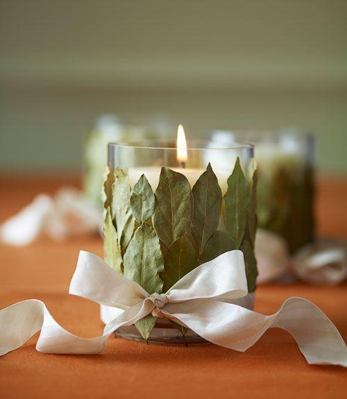 "<p>Embellished with dried herbs, these candleholders look just as good as they smell, especially once the candle starts burning. </p><p><a class=""link rapid-noclick-resp"" href=""https://www.amazon.com/Hosley%C2%AE-Unscented-Filled-Votive-Candles/dp/B00V3PUUP6/?tag=syn-yahoo-20&ascsubtag=%5Bartid%7C10055.g.1681%5Bsrc%7Cyahoo-us"" rel=""nofollow noopener"" target=""_blank"" data-ylk=""slk:SHOP VOTIVES"">SHOP VOTIVES</a><br></p>"