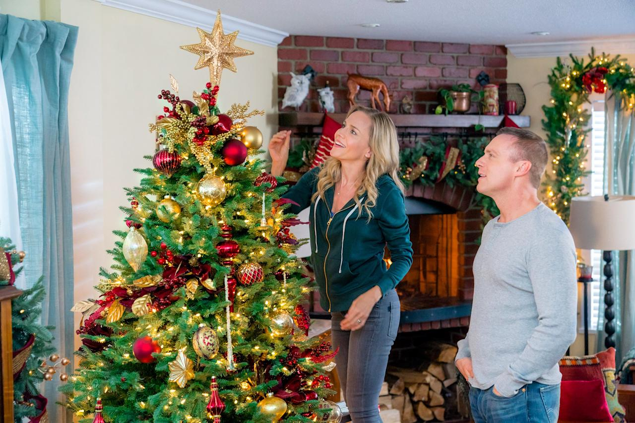 """<strong>Air dates:</strong> Dec. 4, 9 p.m.; Dec. 9, 3 p.m.; Dec. 17 & 29, 7 p.m.; Dec. 22, 1 p.m.; Dec. 26, 1 a.m.  <strong>Stars: </strong>Julie Benz, Michael Shanks  <strong>Contains: </strong>fresh start,community cheer  <strong>Official synopsis: </strong>""""A military widow rents an apartment to an Army Captain recovering from an injury in battle. As they team up to save the town's military museum with a Christmas fundraising event, these two """"wounded birds"""" find themselves falling in love -- and being healed by the magic of Christmas."""""""