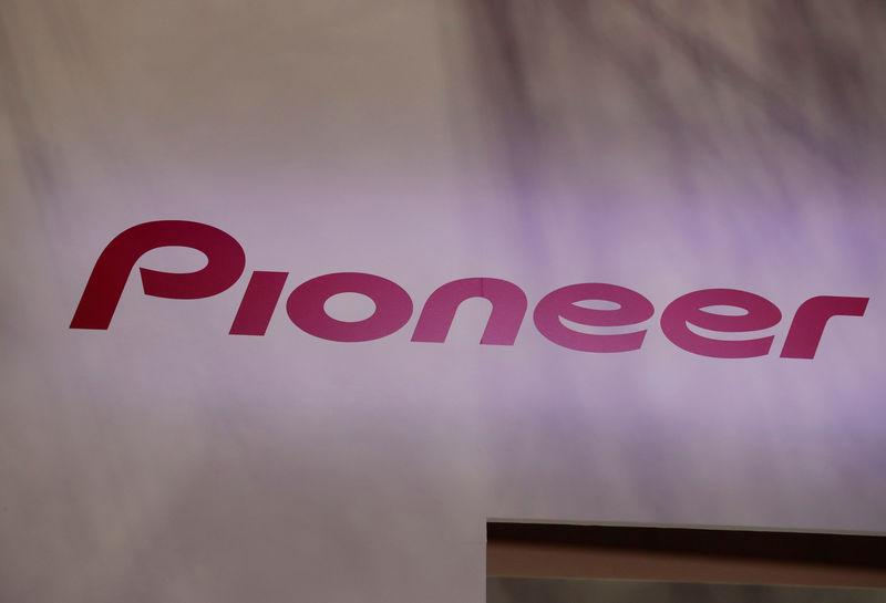FILE PHOTO: Pioneer Corp's logo is pictured at the 45th Tokyo Motor Show in Tokyo