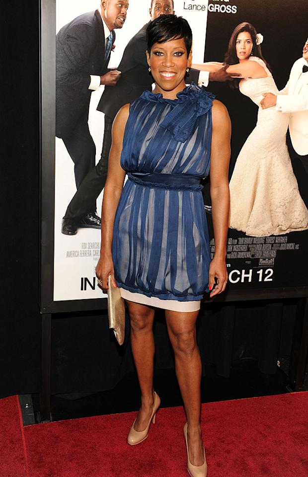 """<a href=""""http://movies.yahoo.com/movie/contributor/1800021532"""">Regina King</a> at the New York City premiere of <a href=""""http://movies.yahoo.com/movie/1810093971/info"""">Our Family Wedding</a> - 03/09/2010"""