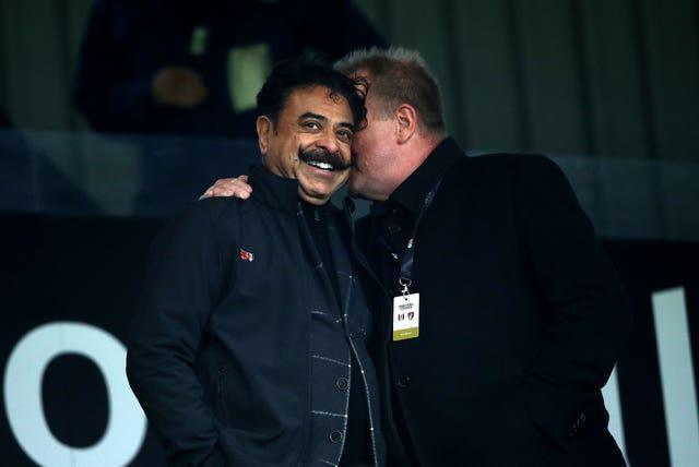 Fulham owner Shahid Khan, left, met with Marco Silva in Portugal to discuss the Craven Cottage vacancy