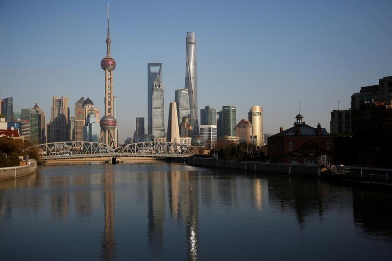A general view of Shanghai's financial district of Pudong is seen in Shanghai