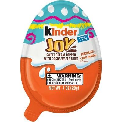 "<p><strong>Kinder</strong></p><p>target.com</p><p><strong>$1.49</strong></p><p><a href=""https://www.target.com/p/kinder-joy-easter-chocolates-7oz/-/A-53958150"" target=""_blank"">Shop Now</a></p><p>Kids love these fun eggs that are treat and toy in one. They feature two separately sealed halves; one side containing layers of cocoa cream and milk topped with wafers and the other containing a surprise item.</p>"