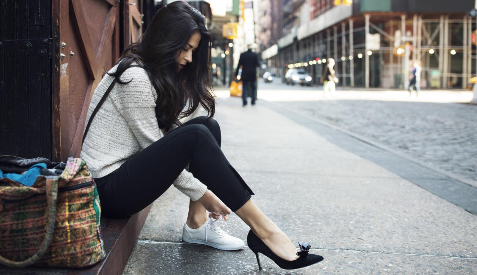 Wearing the right shoes can make a huge difference in getting rid of back pain. (Photo: Getty Images)