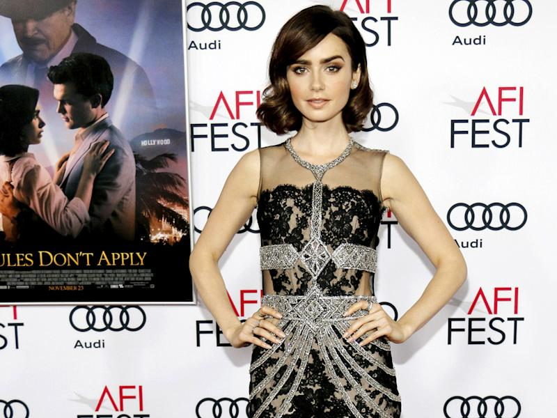 lily collins has lost track of her natural hair colour