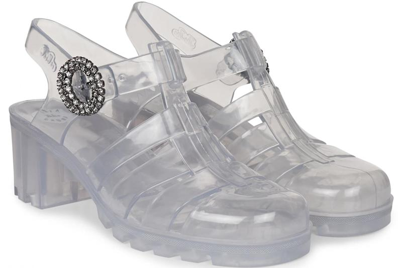 Crystal Buckle Babe transparent Juju shoes, £85 Alexa Chung)