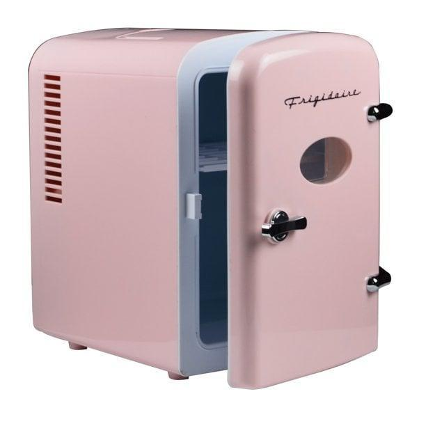 <p>From sodas to skin care, the <span>Frigidaire Portable Retro 6-Can Mini Fridge in Pink</span> ($36, originally $53) is such a cute and functional appliance. Keep this at your desk and fill it with snacks and refreshing drinks. Store your skin care and beauty tools in this for a cooling effect.</p>