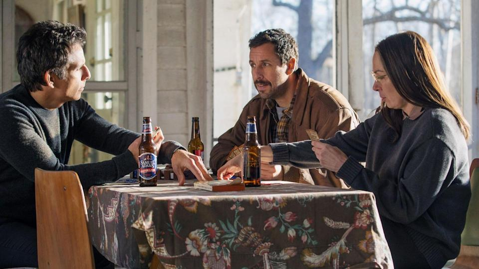 <p> Adam Sandler and Ben Stiller star in Noah Baumbach&apos;s remarkable intergenerational comedy-drama about three siblings (Sandler, Stiller, and Elizabeth Marvel) trying to navigate life in the shadow of their father (Dustin Hoffman). As they contend with him, each other, and their families, they find their lives taking unexpected turns.&#xA0; </p> <p> If you&#x2019;ve seen Baumbach&#x2019;s previous movies, such as The Squid and the Whale or Greenberg, you&#x2019;ll know what you&#x2019;re getting here: a quirky comedy with emotional, dramatic elements, and some darn good performances too. He&#x2019;s also co-written several of Wes Anderson&#x2019;s movie scripts, including The Life Aquatic and Fantastic Mr. Fox. And yes, you better believe it, Adam Sandler can act, when he&#x2019;s given a half-decent script (see Punch-Drunk Love for further proof).&#xA0; </p>
