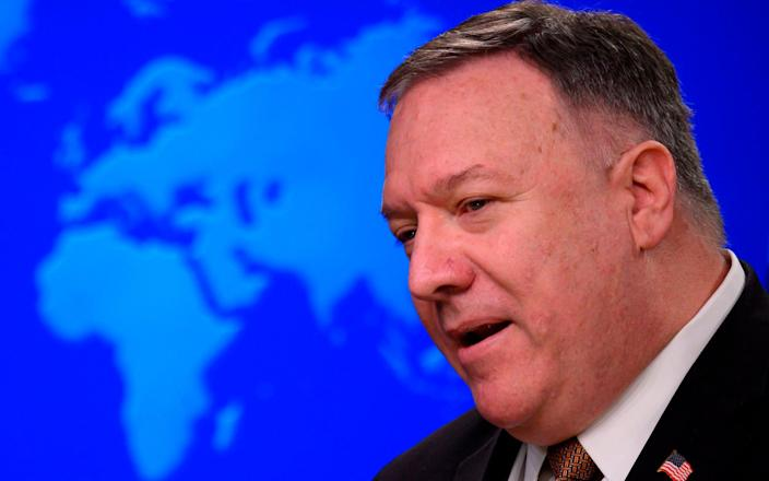 """Secretary of State Mike Pompeo said """"we are witnessing the systematic attempt to destroy Uighurs by the Chinese party-state"""" - AFP"""