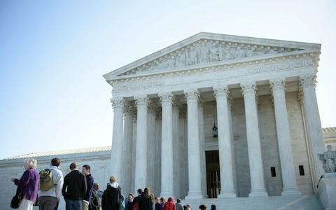 <span>The US Supreme Court is currently sitting without a ninth justice</span> <span>Credit: AFP </span>