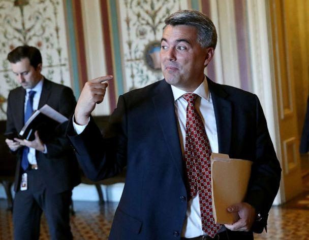 PHOTO: Sen. Cory Gardner arrives for a vote on the budget agreement at the U.S. Capitol on August 1, 2019, in Washington, D.C. (Mark Wilson/Getty Images, FILE)