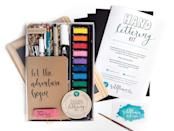 <p>This <span>Hand Lettering Kit</span> ($55) is a great starter set for creative introverts to hone a new craft. It includes detailed instructions, a kraft pocket sketchbook, a watercolor set, a black micron pen, a white hand lettering pen, and so much more. </p>
