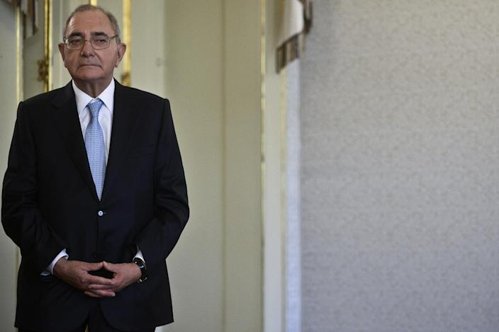 Portuguese Foreign Minister Rui Machete looks on during his swearing-in ceremony at the Belem Palace in Lisbon on July 24, 2013 (AFP Photo/Patricia de Melo Moreira)