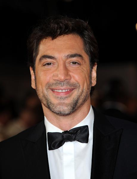 "Javier Bardem arrives at the world premiere of ""Skyfall"" at the Royal Albert Hall on Tuesday, Oct. 23, 2012 in London. (Photo by Stewart Wilson/Invision/AP)"