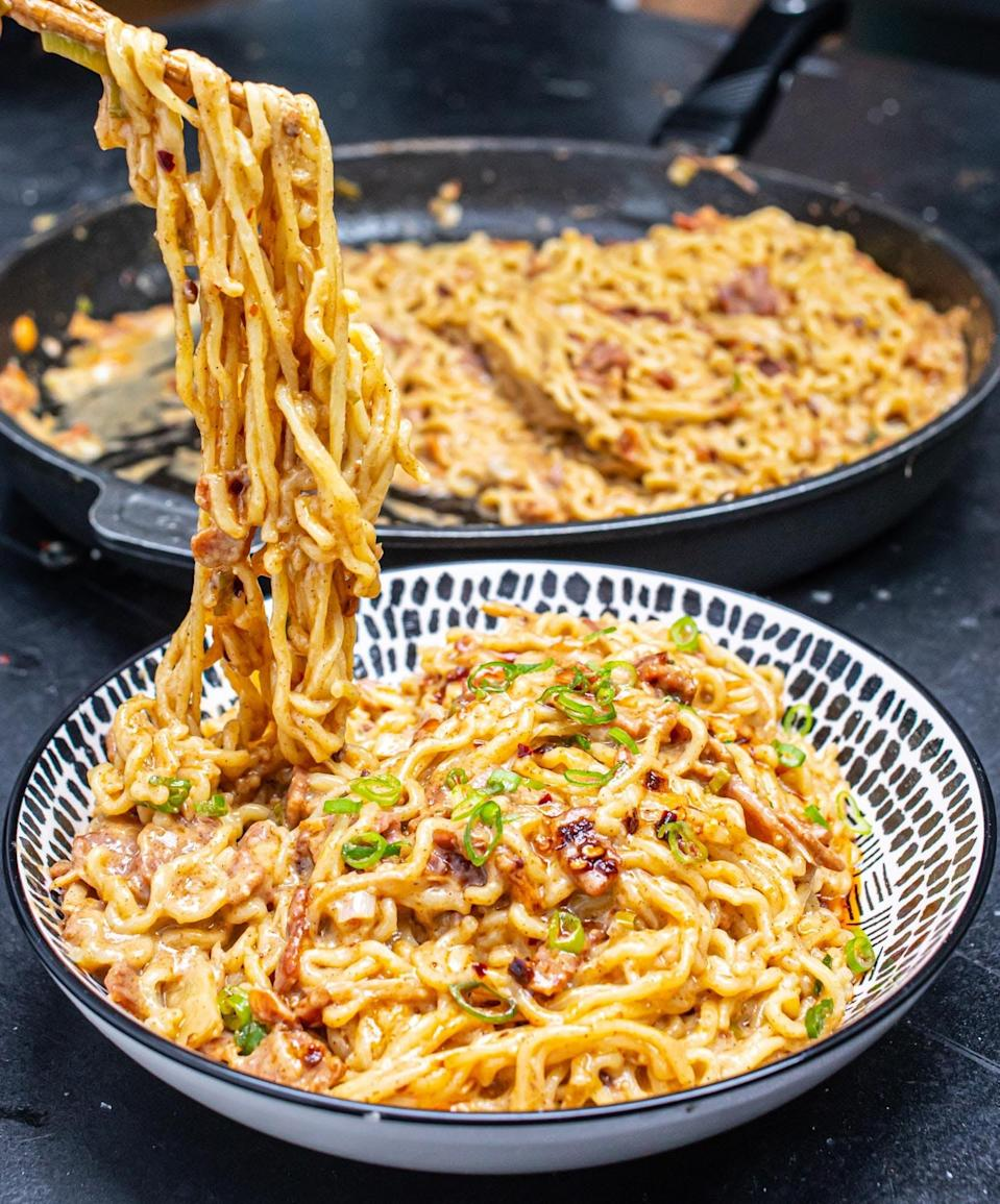 These bacony noodles are not only flavourful, they make you feel like your adultingMOB Kitchen