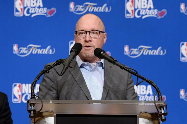 David Griffin. (Photo by David Dow/NBAE via Getty Images)