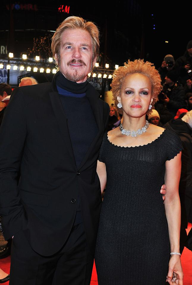 """BERLIN, GERMANY - FEBRUARY 09: Matthew Modine and guest attend the """"Les Adieux De La Reine"""" Premiere during day one of the 62nd Berlin International Film Festival at the Berlinale Palast on February 9, 2012 in Berlin, Germany.  (Photo by Pascal Le Segretain/Getty Images)"""