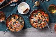 """<p>Can't bear to part with a loaf of stale bread? This stew breathes new life into bread as well as hearty beans. </p><p><a href=""""https://www.goodhousekeeping.com/food-recipes/a12161/tuscan-veggie-stew-recipe-ghk0215/"""" rel=""""nofollow noopener"""" target=""""_blank"""" data-ylk=""""slk:Get the recipe for Tuscan Veggie Stew »"""" class=""""link rapid-noclick-resp""""><em>Get the recipe for Tuscan Veggie Stew »</em></a></p>"""