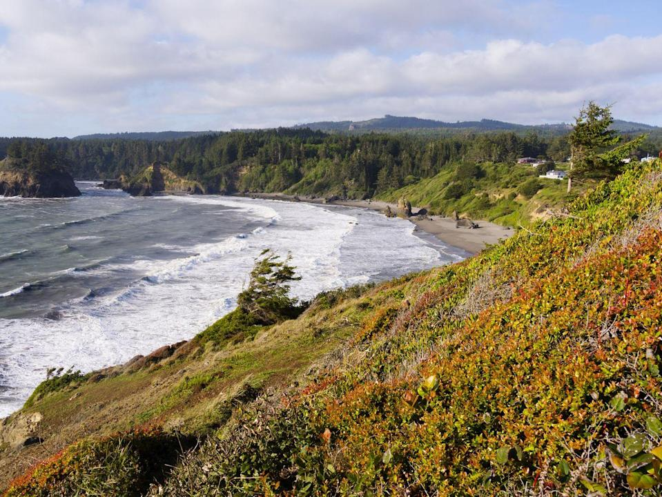"""<p>With a population of less than 400 people, calling this town small is an understatement. That said, <a href=""""https://www.tripadvisor.com/Tourism-g33188-Trinidad_Humboldt_County_California-Vacations.html"""" rel=""""nofollow noopener"""" target=""""_blank"""" data-ylk=""""slk:Trinidad is home to some beautiful public beaches"""" class=""""link rapid-noclick-resp"""">Trinidad is home to some beautiful public beaches</a> and picturesque offshore rocks, and it has a rich Native American historic heritage. </p>"""