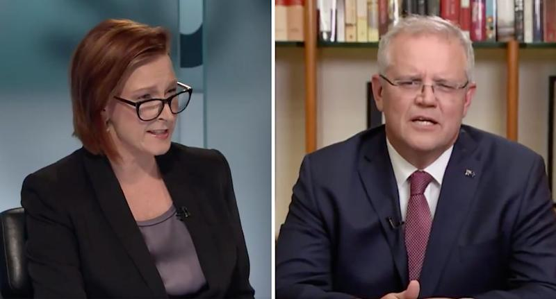 Leigh Sales and Scott Morrison