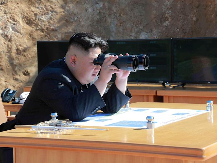 A North Korean missile test is pictured: Reuters