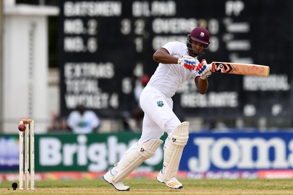 West Indies' Kieran Powell played his first Test match in almost three years on April 21, 2017, after coming back from a failed attempt of breaking in to the American baseball scene back in 2014 (AFP Photo/Jewel SAMAD)