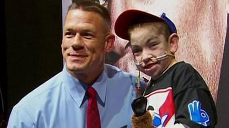 The moment brave Bryce met with his hero. Source: Sunrise