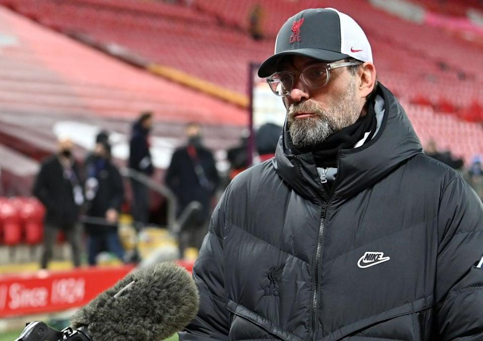 <p>Klopp will be asked about the Super League on Monday night</p> (Getty Images)