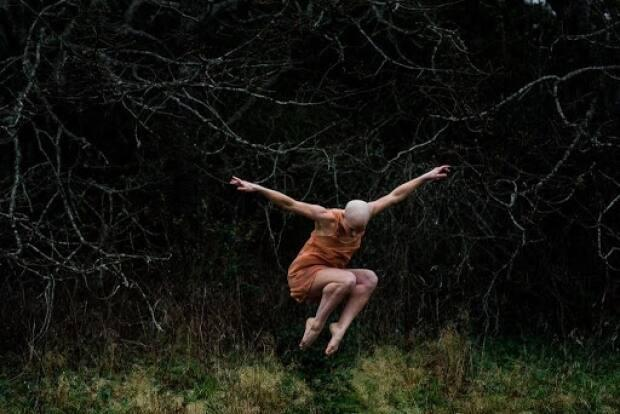 A professional dancer, Kayla Henry had worked with the Winnipeg Contemporary Dance Company in Manitoba but was sidelined by illness. She participated in a 'goddess' photo shoot, above, that she says helped get her creativity flowing again. (Ashlene Nairn  - image credit)