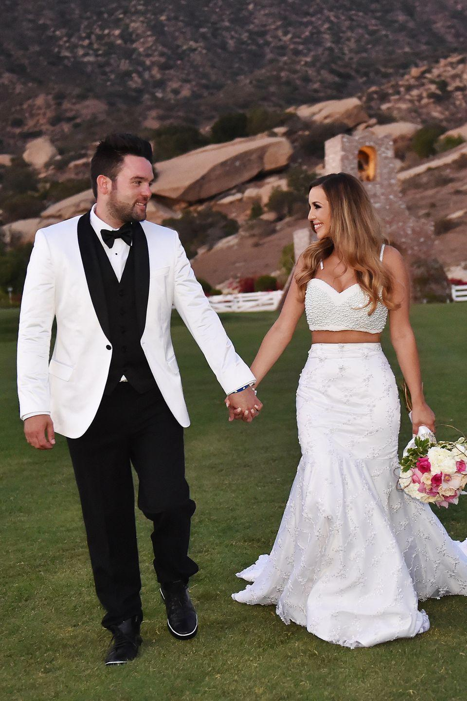 "<p>The model and star of <em>Vanderpump Rules </em>on Bravo designed her own dress for her wedding to <span class=""redactor-unlink"">Michael Shay</span> at the height of the crop top fad. Some thought her dress was too trendy and would appear outdated in only a few of years.</p>"