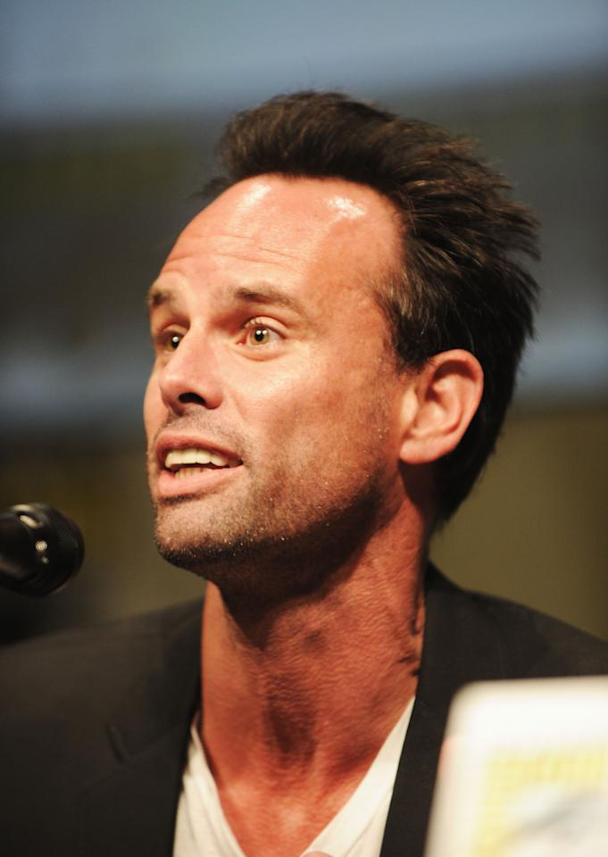 """SAN DIEGO, CA - JULY 14:  Actor Walton Goggins  speaks at the """"Django Unchained"""" panel during Comic-Con International 2012 at San Diego Convention Center on July 14, 2012 in San Diego, California.  (Photo by Albert L. Ortega/Getty Images)"""