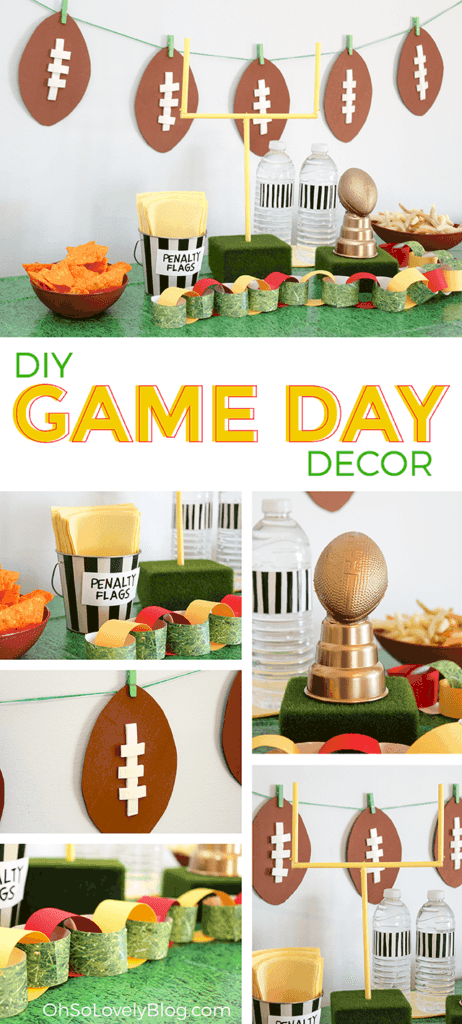 "<p>This yellow goalpost makes the perfect decoration for your party. </p><p><em><a href=""http://www.ohsolovelyblog.com/diy-super-bowl-party-decor/"" rel=""nofollow noopener"" target=""_blank"" data-ylk=""slk:Get the tutorial at Oh So Lovely »"" class=""link rapid-noclick-resp"">Get the tutorial at Oh So Lovely »</a></em></p>"