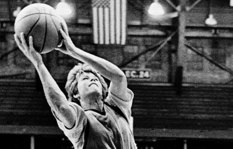 Ann Meyers competed in the Indiana Pacers' three-day rookie camp in September 1979. (AP)