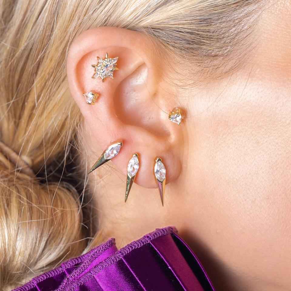 """<p>The <a href=""""https://www.popsugar.com/buy/Melinda-Maria-Ariana-Single-Spike-Earring-548020?p_name=Melinda%20Maria%20Ariana%20Single%20Spike%20Earring&retailer=melindamaria.com&pid=548020&price=48&evar1=fab%3Auk&evar9=47204219&evar98=https%3A%2F%2Fwww.popsugar.com%2Ffashion%2Fphoto-gallery%2F47204219%2Fimage%2F47204409%2FMelinda-Maria-Ariana-Single-Spike-Earring&list1=shopping%2Cjewelry%2Caccessories%2Cearrings%2Cfashion%20shopping%2Cmelinda%20maria&prop13=api&pdata=1"""" rel=""""nofollow"""" data-shoppable-link=""""1"""" target=""""_blank"""" class=""""ga-track"""" data-ga-category=""""Related"""" data-ga-label=""""https://melindamaria.com/collections/earrings/products/ariana-ear-single-spike"""" data-ga-action=""""In-Line Links"""">Melinda Maria Ariana Single Spike Earring</a> ($48) has just the right amount of edge, but it's still great for every day.</p>"""