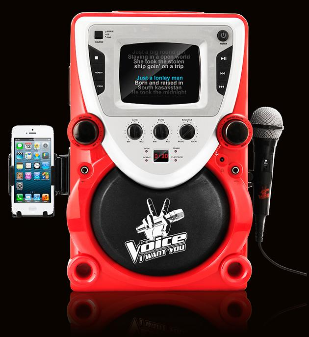 <p><strong>'The Voice' Karaoke Machine</strong></p> <p>Wannabe singers can practice until they're pitch perfect and ready for Adam Levine or Blake Shelton to turn around.</p>