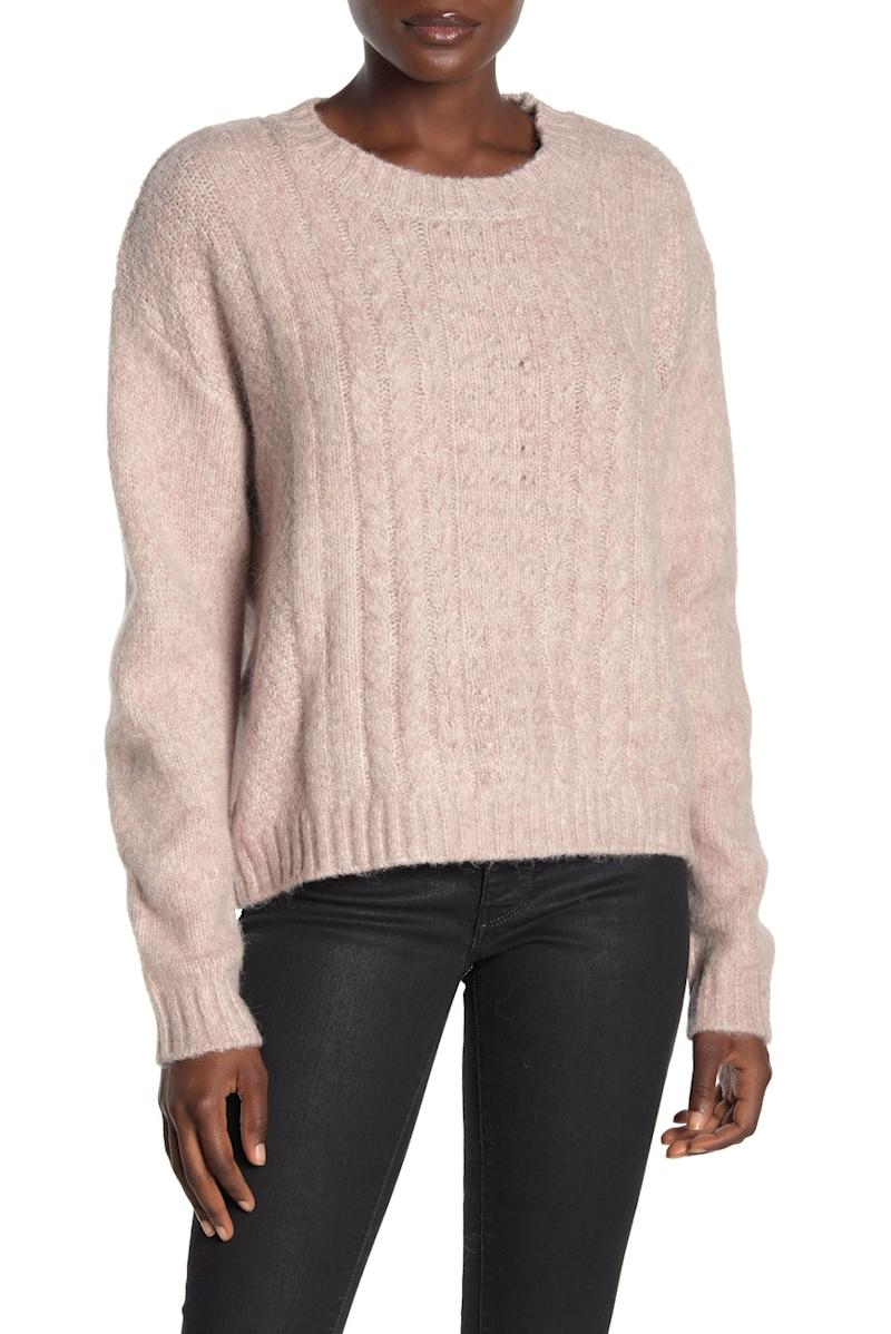 Max Studio Cable Knit Sweater
