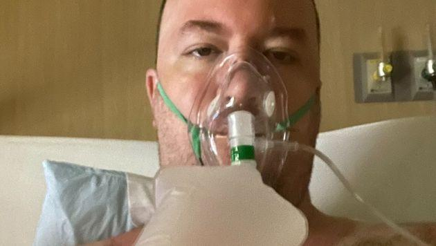 The father of five had trouble breathing and was placed on a ventilator before eventually being sedated, his fiancee said. (Photo: <a href=