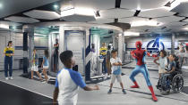 <p>Marvel Super Hero Academy is a high-tech Avengers headquarters where kids ages 3 to 12 will train to be the next generation of Super Heroes with the help of their own heroes, like Spider-Man, Black Panther, Ant-Man and the Wasp. (Disney)</p>