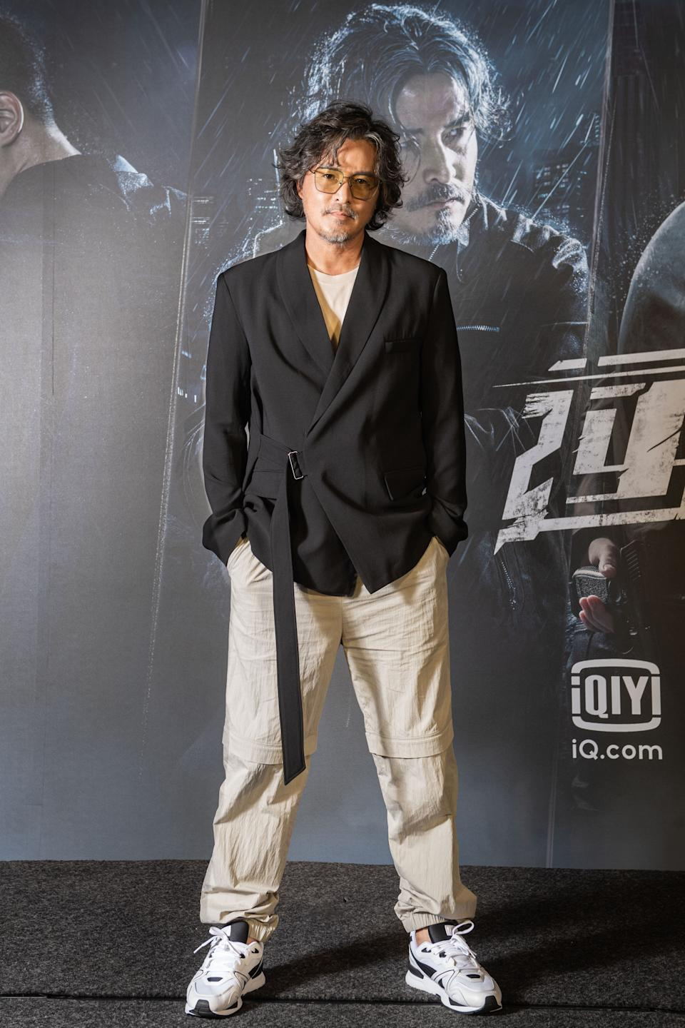 Actor Christopher Lee at a press conference in Taipei, Taiwan for iQiyi series Danger Zone on 1 September 2021. (Photo: iQiyi)