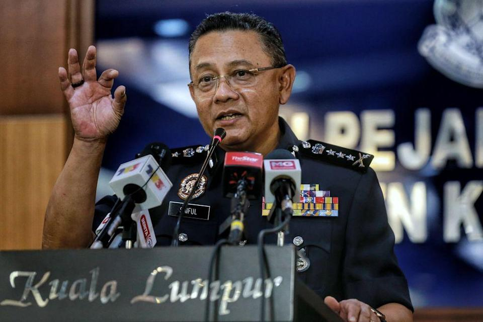 KL police chief Datuk Saiful Azly Kamaruddin told reporters on January 26 that the investigation was completed and had been submitted to the AGC for the next course of action. — Picture by Ahmad Zamzahuri