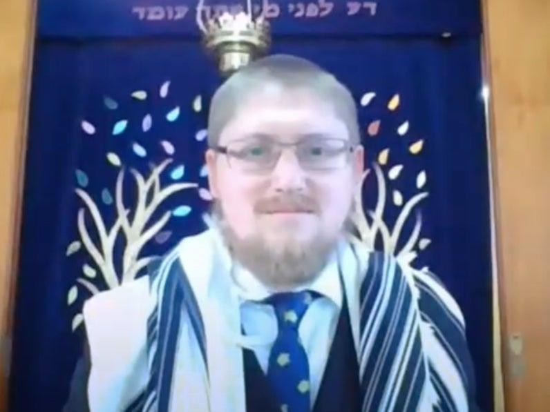 Rabbi Rafi Goodwin was attacked outside his synagogue in Chigwell, north London (YouTube)