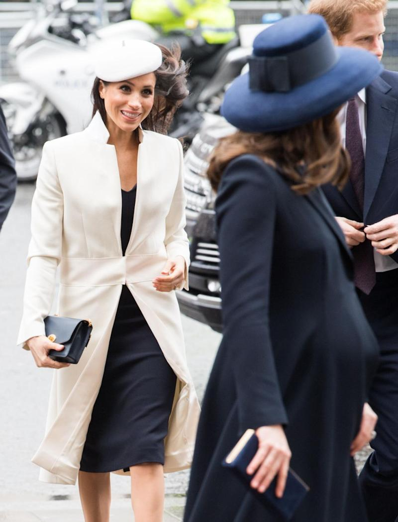 Its unusual for the royal ladies to have such an obvious outfit double up. Photo: Getty