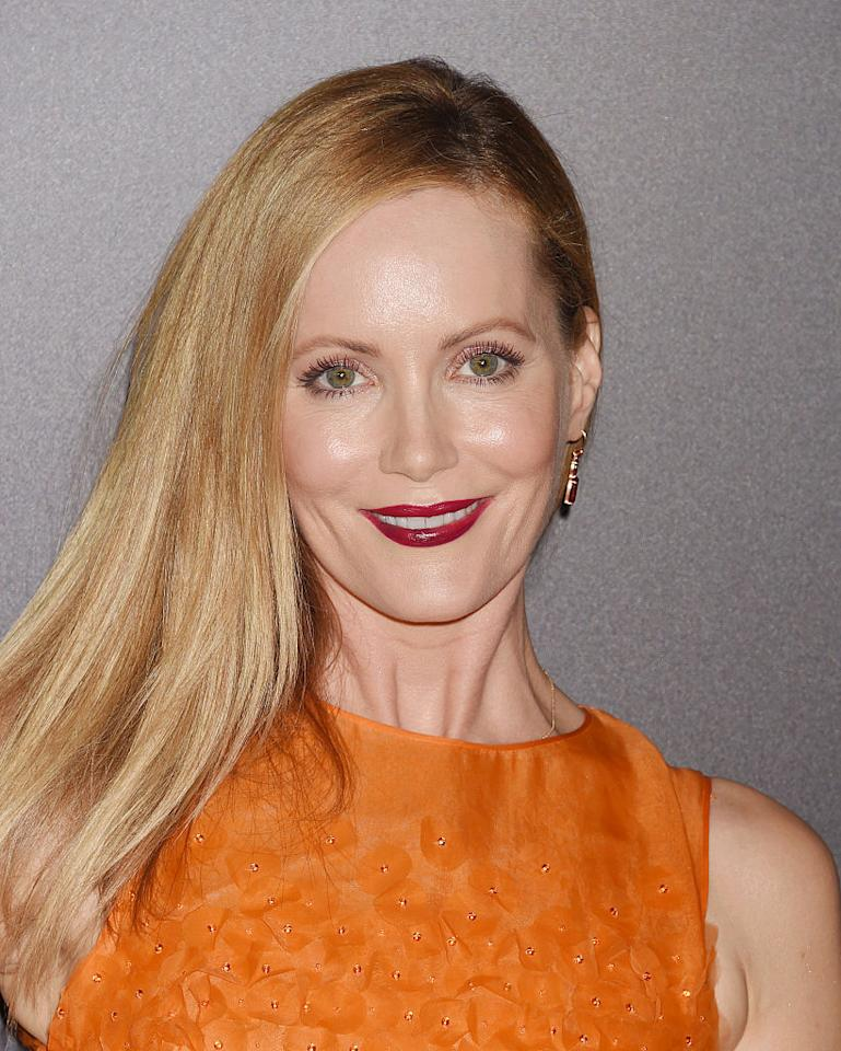 "<p>That hair, those lashes, and that lip color! Leslie Mann looked absolutely ravishing at the 20th Annual Hollywood Film Awards. <em>For crisp red lips like Mann's, try <a rel=""nofollow"" href=""http://www.sephora.com/lip-gloss-P404830?skuId=1792050&publisher_id=255779"">Anastasia Beverly Hills Lip Gloss in Neon Apple</a></em>, $16. (Photo: Jeffrey Mayer/WireImage) </p>"