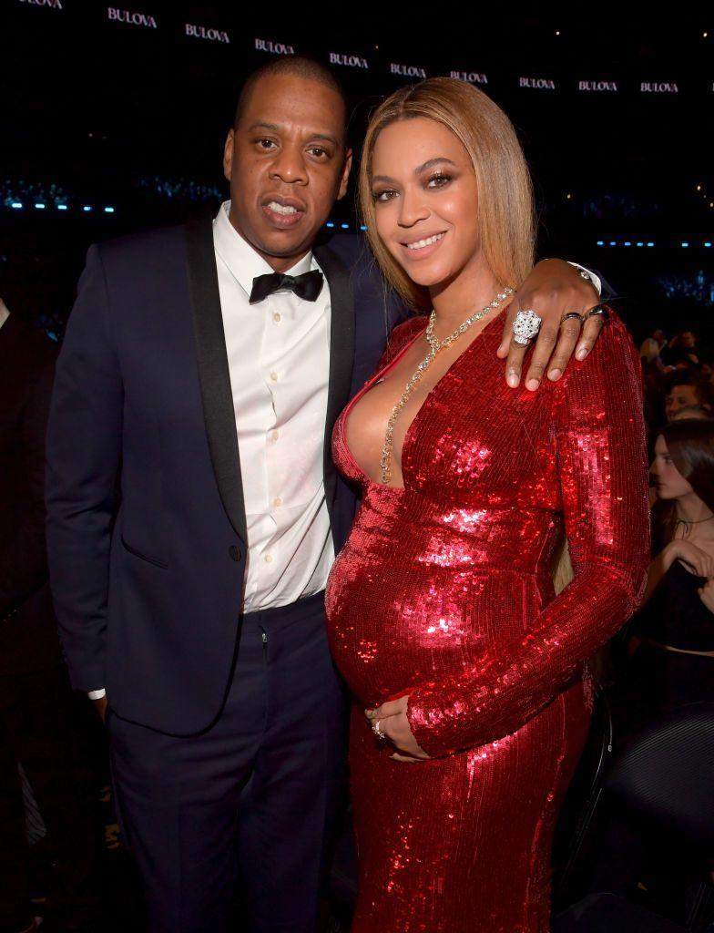 <p>The couple posed for the photographer at the Grammy's, where Beyoncé scooped two awards and attended in a red sequinned gown. She was pregnant with the couple's twins, Sir and Rumi at the time.</p>