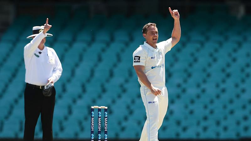 Pictured here, Steven O'Keefe in action for NSW in Sheffield Shield.
