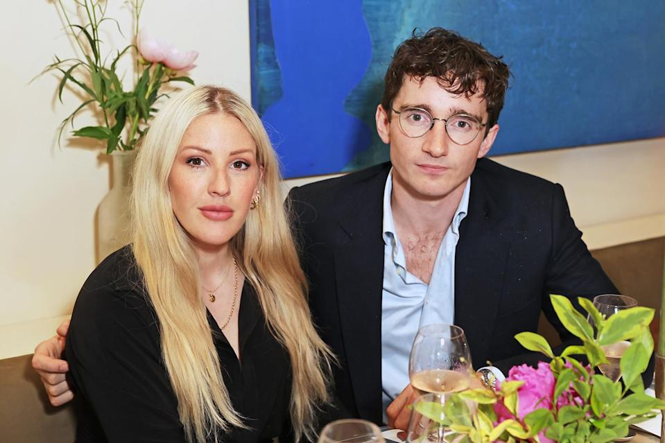 """<p>New parents Ellie Goulding and Caspar Jopling attend a private dinner event to celebrate artist Lily Lewis' new collection, """"Safe Places,"""" at Carriage Hall in London on June 17.</p>"""