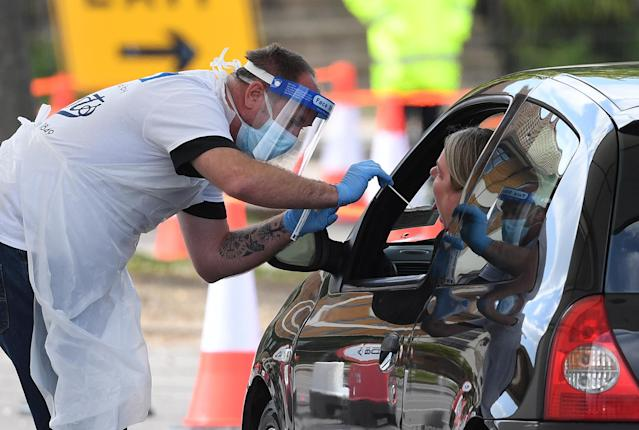 Testing continues to be carried out as the death toll rises in the latest data. (PA Images)