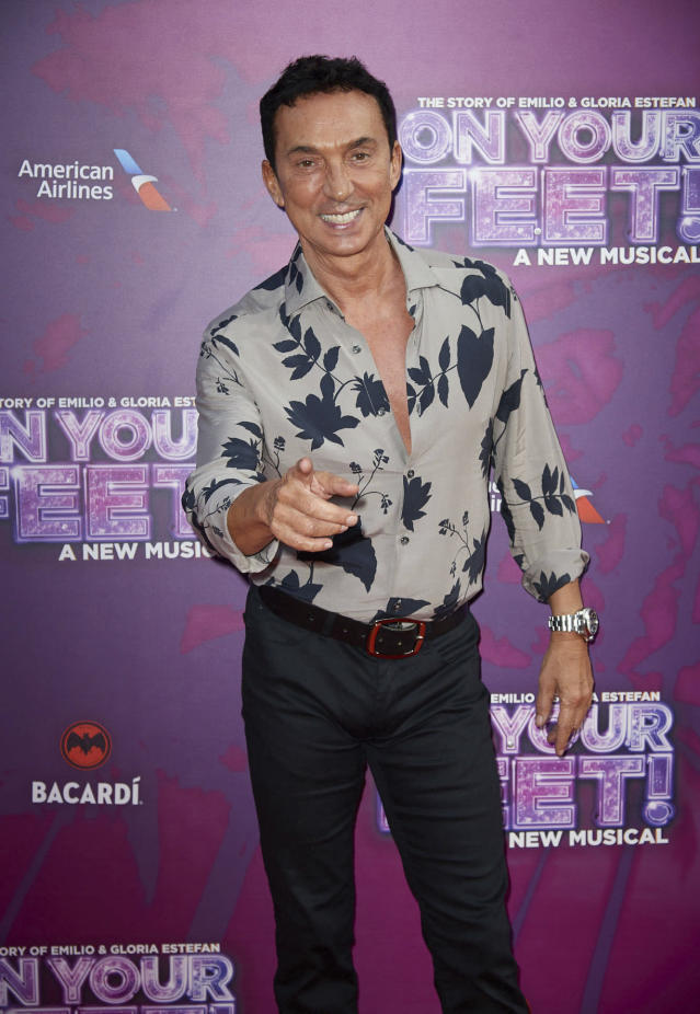 """Bruno Tonioli at the press night for """"On Your Feet: The Story of Emilio & Gloria Estefan"""" in London (Photo by: zz/KGC-247/STAR MAX/IPx 2019 6/27/19)"""