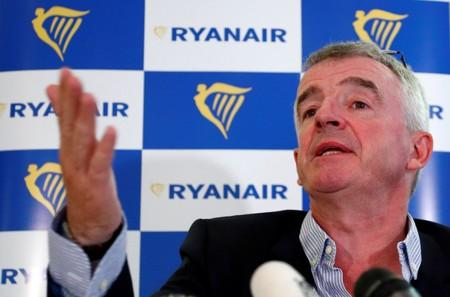 Ryanair CEO O'Leary holds news conference in Machelen near Brussels